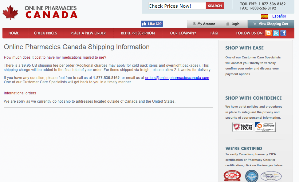OnlinePharmaciesCanada Review: Dispensing Prescription Drugs from Accredited Canadian Pharmacies