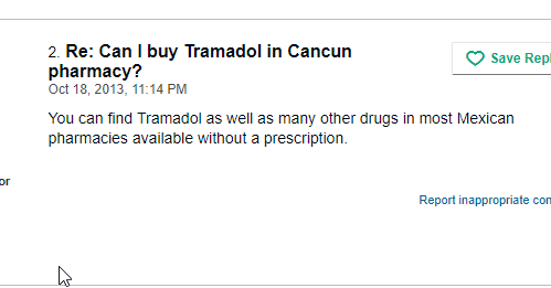 Mexican Tramadol Over the Counter