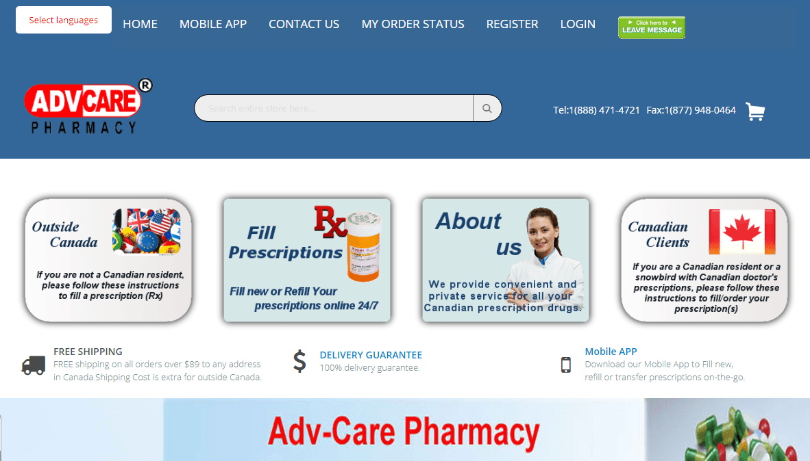 Adv-Care Pharmacy – Affordable Meds On-the-Go