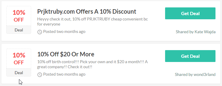 Prjkt Ruby Coupon Codes